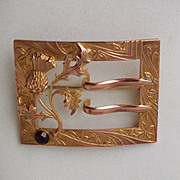 Edwardian Copper Sash Pin