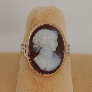 Victorian Carnelian Cameo Ring