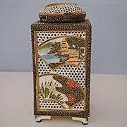 Satsuma Porcelain Cricket Cage