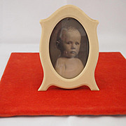 Charming Vintage Frame with Baby Photo