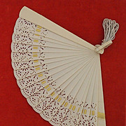 Small Art Deco Celluloid Fan