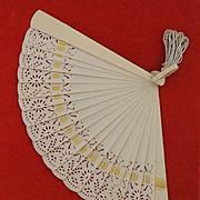Vintage Small Celluloid Fan
