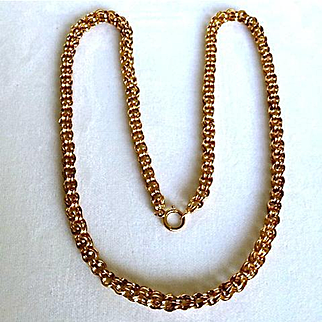 Victorian Double Link Gold Chain