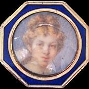 Georgian Pendant Portrait of Young Girl