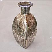 Vintage Silver Triangular Bottle Shaped Candlesticks