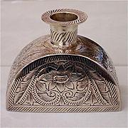 Vintage Flask Shaped Silver Candlesticks