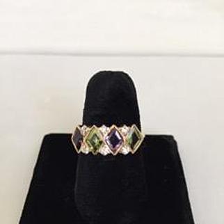 Suffragette Motif Rose Gold Ring