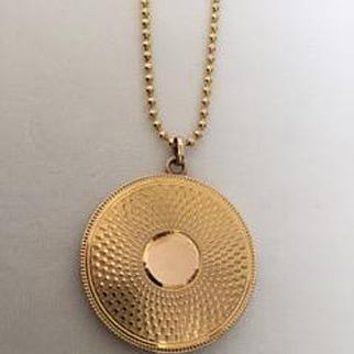 Round Victorian Gold Locket