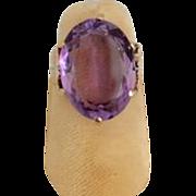 Victorian Rose Gold Amethyst Ring