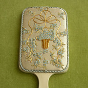 Edwardian Celluloid Hand Mirror