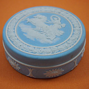 Small Light Blue Jasperware Wedgwood Box