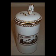 Richard Ginori Di Doccia Florence Fiesole Cylindrical Trinket Box