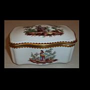 Richard Ginori Doccia Florence Pastoral Trinket Box
