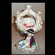 Staffordshire Pocket Watch Holder Figurine Boy