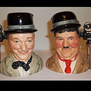 Royal Doulton Laurel and Hardy Character Jugs Limited Edition