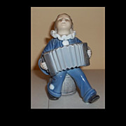Royal Copenhagen Denmark Figurine Boy Playing Accordian