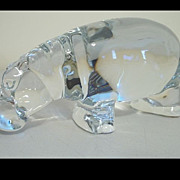 Baccarat Crystal Hippo Figurine