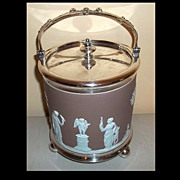 Wedgwood Jasperware Lilac Biscuit Barrel /Jar