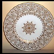 """( 6) Richard Klemm Dresden Reticulated Plates   7 3/4"""""""