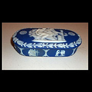 Blue Wedgwood Jasperware Match Box
