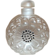 "Lalique Dahlia Perfume Bottle 3 1/2"" Signed w/ Original Label"