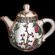 """Coalport Multi Color Indian Tree Teapot 6 1/2"""" England"""