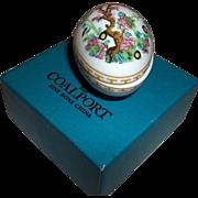 Coalport Indian Tree Multicolor Mini Egg Trinket Box