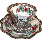 Pair Coalport Indian Tree Cups and Saucers Multicolor