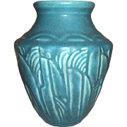 Rookwood Pottery Matte Teal Vase  6237