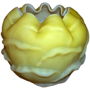 Consolidated Glass Yellow Cabbage Rose Bowl