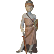 Lladro Young Man Medieval Soldier Figurine  #6111