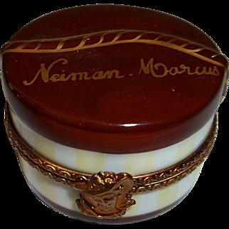 Limoges Rochard Neiman Marcus Trinket Hat Box