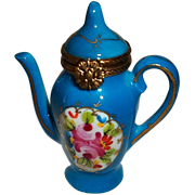 Limoges Chamart Coffee Pot Trinket Box