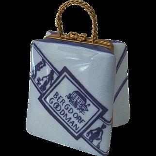 Limoges Bergdorf Goodman Shopping Bag Trinket Box
