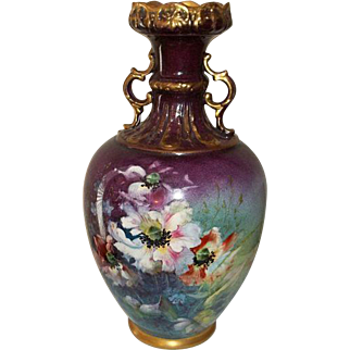 Royal Bonn Vase Hand Painted and Gilded