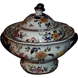 Ironstone Chinese Flora Soup Tureen