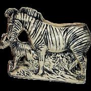 McCoy Pottery Zebra Planter