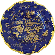 Coalport England Cairo Plate Cobalt and Gold