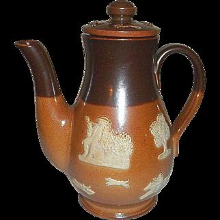 "Royal Doulton Stoneware Salt Glaze Coffee Pot  6 3/4"" Tall"