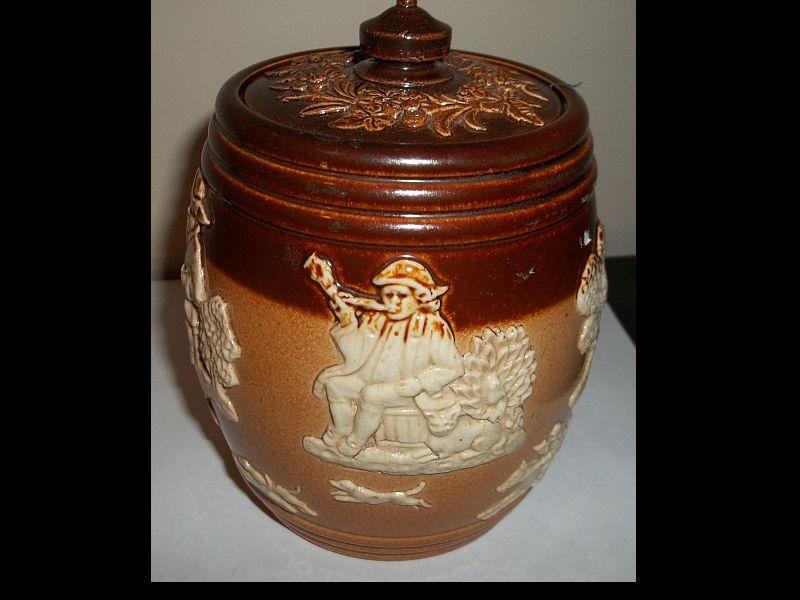 Royal Doulton Salt Glaze Stoneware Tobacco Jar With Lid