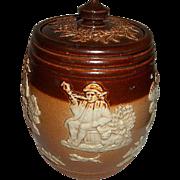 Royal Doulton Salt Glaze Stoneware Tobacco Jar with Lid.