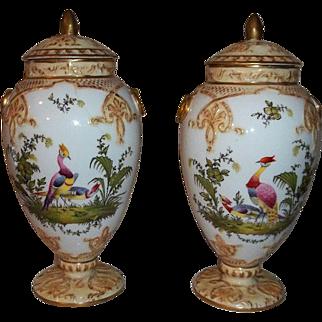 Steve Clive Tunstall Stratford England Fine Porcelain Potpourri Jars with Lids  Circa 1875-1880