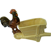 McCoy Rooster Wheelbarrow Planter