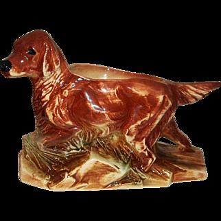 McCoy Pottery Irish Setter Hunting Dog Planter