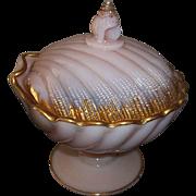 "Cambridge Glass Tuscan Shell Candy Dish  7 1/4"" Tall"