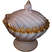 "Cambridge Glass Tuscan Shell Candy Dish  7 1/4"" Tall"
