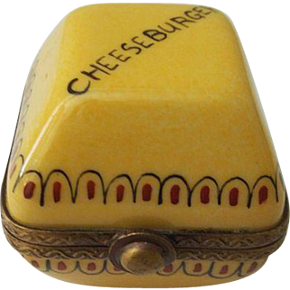 Limoges P V Cheeseburger Trinket Box