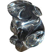 Baccarat Crystal Rabbit Figurine Paperweight with Original Box