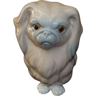 "Lladro Dog Pekingese Figurine    6"" Tall"