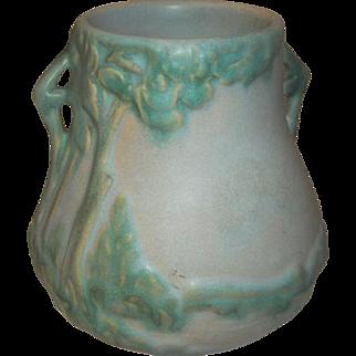 Weller Art Pottery Vase Scenic Signed S4
